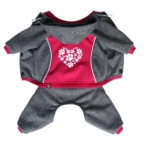 HEART PAWS pink -  softshell overal