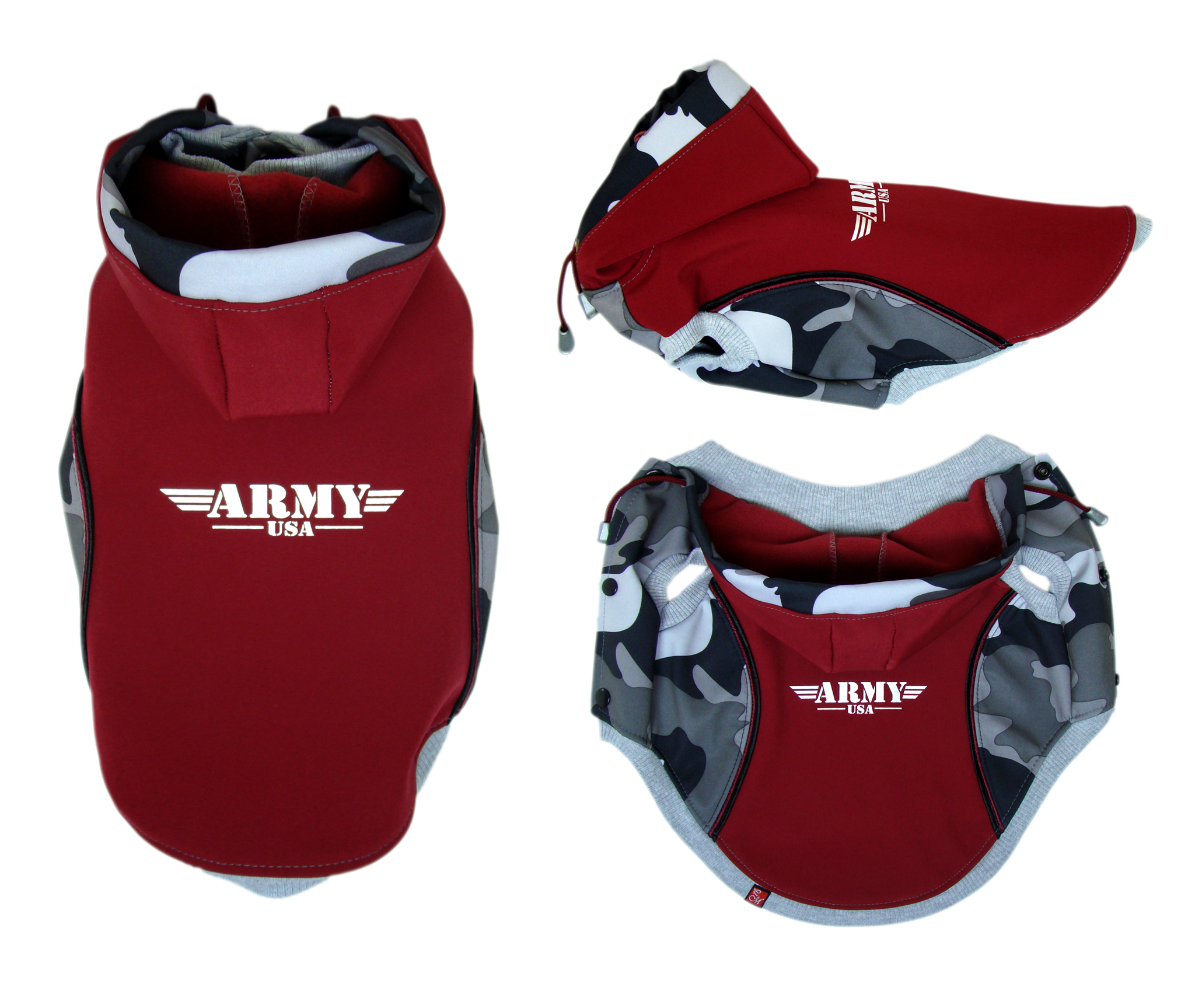 ARMY RED - softshell vesta