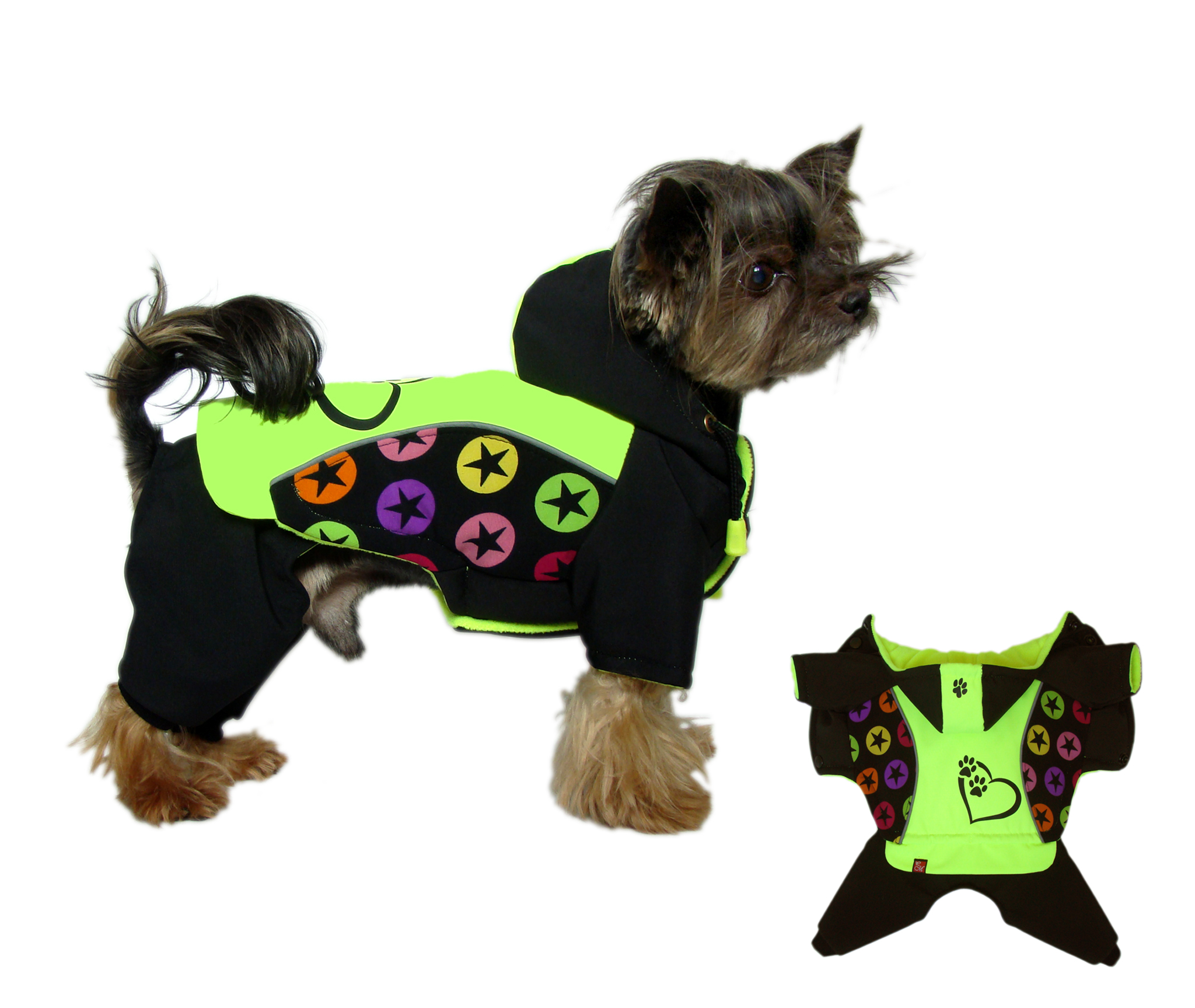 8345f9d64 Softshell zimný overal Heart Paws   E-shop: Oblečenie pre psov ...