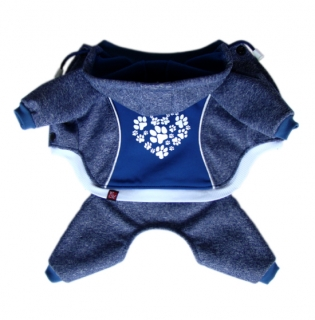 HEART PAWS blue -  softshell overal